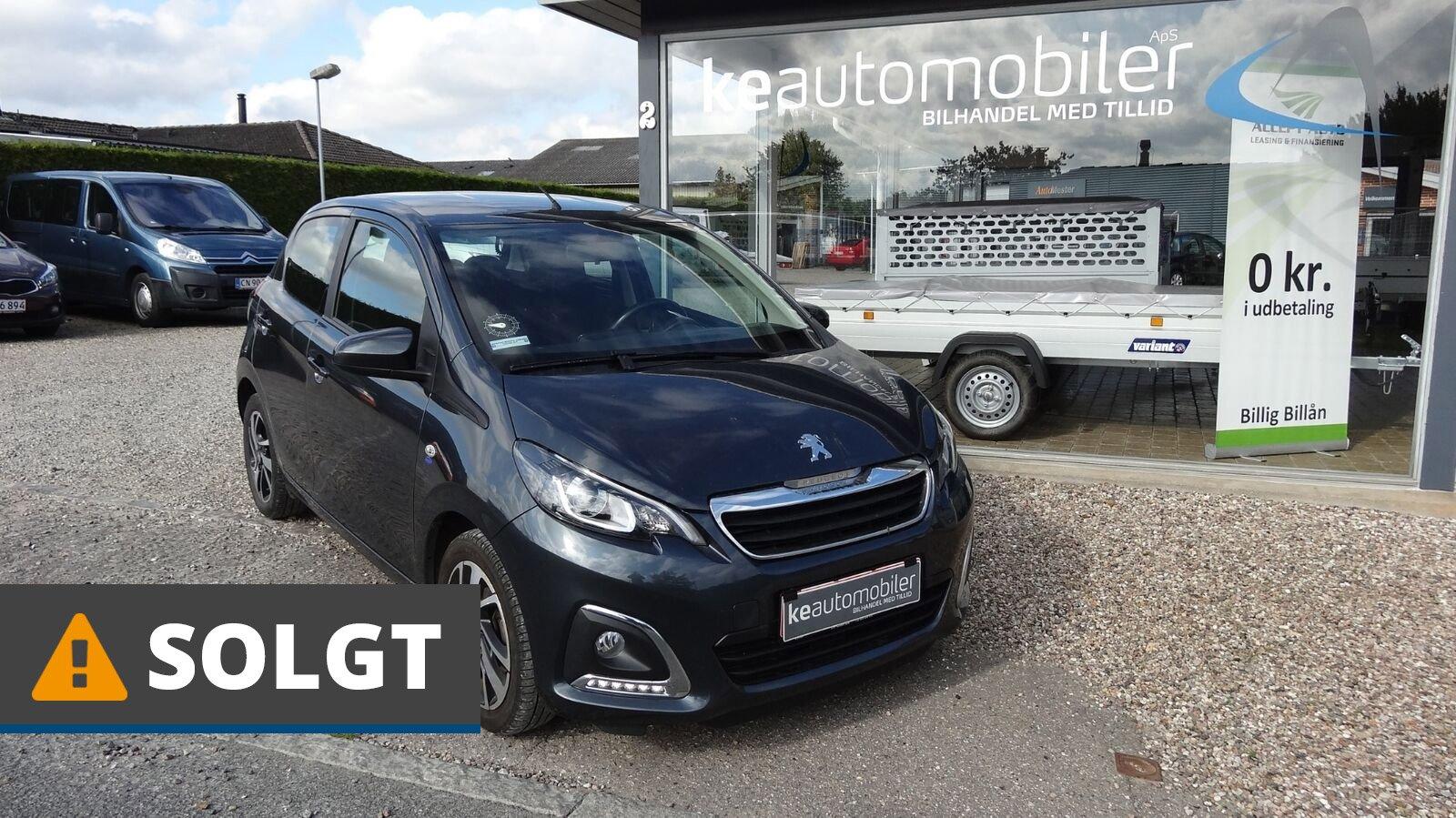 Peugeot 108 E-VTi 69 Allure 1,0 Benzin 69 Hk (2016) // SOLGT