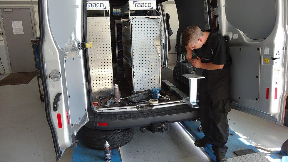 Opbygning / Indretning af varebiler